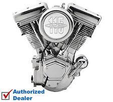 "New Complete Revtech 115"" Chrome Natural Raw Engine Motor Harley Evolution Evo"