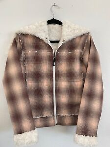 14dcd7ef5bb Details about Spyder Womens Faux Fur Lined Short Bomber Jacket Coat with  Hood Size Small