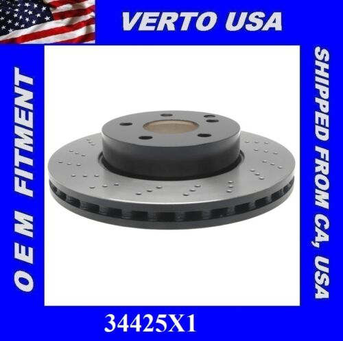 Drilled Mercedes Benz C250 C300 SLK250 Front Brake Rotor Verto USA 34425X1