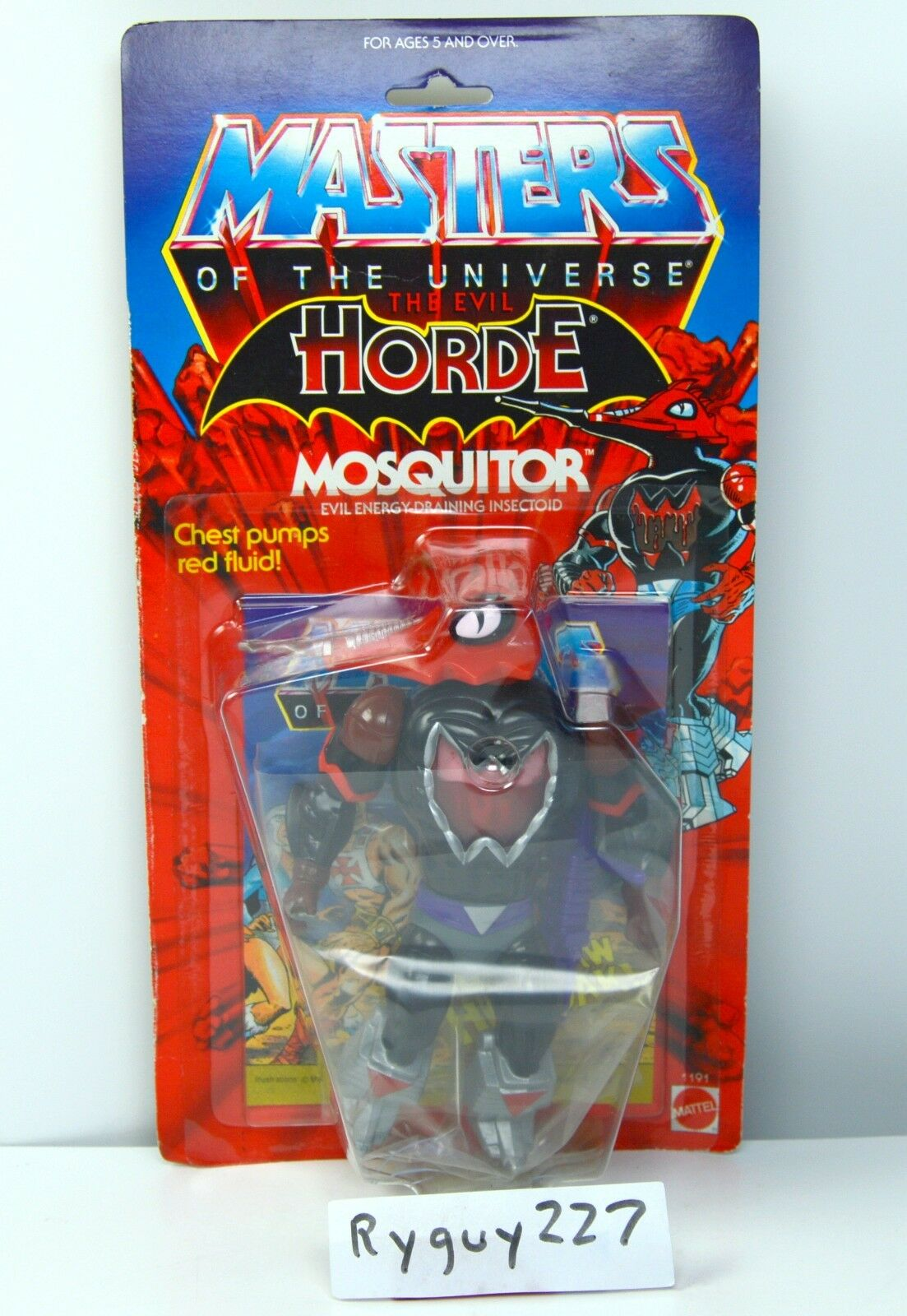 MOTU, Mosquitor, Masters of the Universe, MOC, sealed, He-Man figure, MOSC