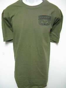 Army Airborne Ranger T Shirt Military New Front Only Thick T