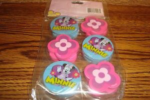 Image Is Loading DISNEY Mickey Mouse Clubhouse MINNIE 12 Twelve Erasers