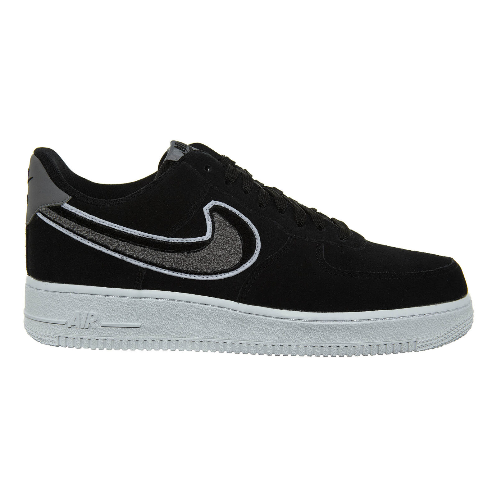 Nike Air Force 1 '07 LV8 Chenille Swoosh Mens 823511-014 Black Shoes Comfortable The most popular shoes for men and women