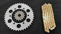Kawasaki Ex500 Ninja Sprocket & Gold O-ring Chain Set 16/42 1987 - 1993