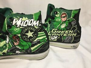 22a9b59521e9 Converse Mens Green Lantern Chuck Taylor All Stars Size 8 Glow in ...