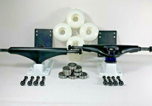 "Details about  /PILOT 5.25/"" Skate Black//White Trucks Wheels Bearings Combo Set"