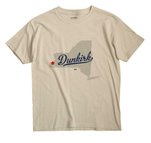 Dunkirk New York NY T-Shirt Souvenir MAP