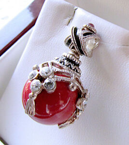 SALE-HUGE-SELECTION-GORGEOUS-PENDANT-STERLING-SILVER-925-w-GENUINE-CORAL