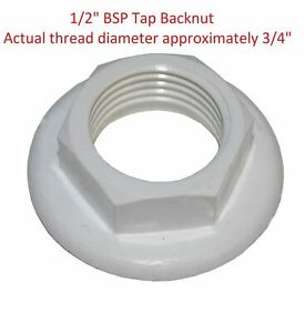 2 x Brass Back Nut /& Washer 1//2/'/' For Basin Taps Kitchen Sink Tap