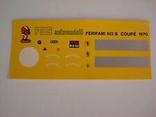 DECALS KIT 1/43 FERRARI 512S COUPE' 1970 NEW