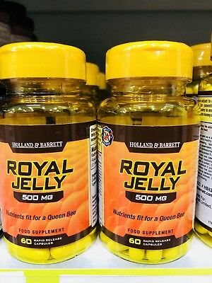 Holland&Barrett Royal Jelly (2x60 capsules 500mg, Free International  Postage) | eBay