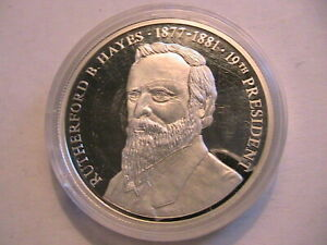 1998-American-Mint-The-US-Presidents-Series-Rutherford-Hayes-1877-81-Cameo-Proof
