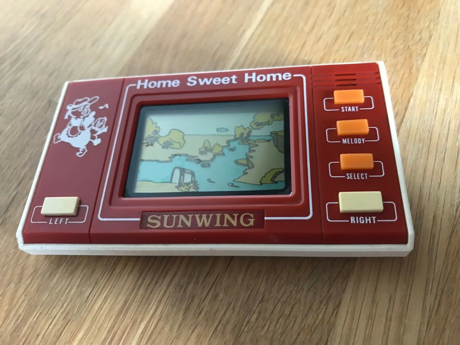 Rare Sunwing Home Home Home Sweet Home 1980's Vintage LCD Handheld Electronic Game in VGC. 587f8e