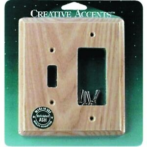 Contemporary Ash Unfinished Combination Wall Plate,No 426U,  Jackson Deerfield