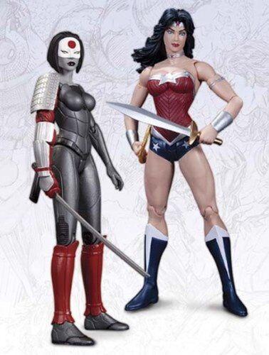 The new 52 action figure 2-pack wonder woman vs katana vendeur britannique