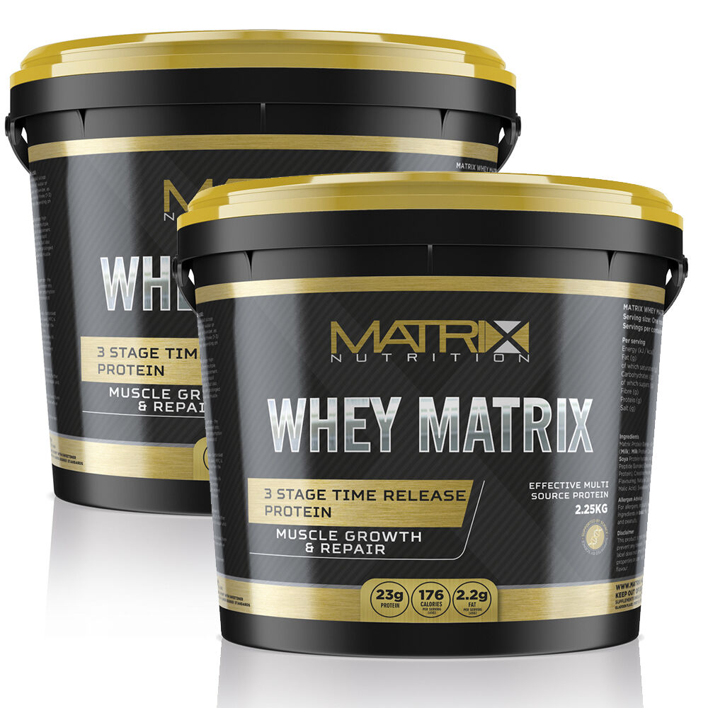 WHEY PROTEIN - MUSCLE GROWTH SIZES - ALL FLAVOURS & SIZES GROWTH -  BY MATRIX NUTRITION bb7e15