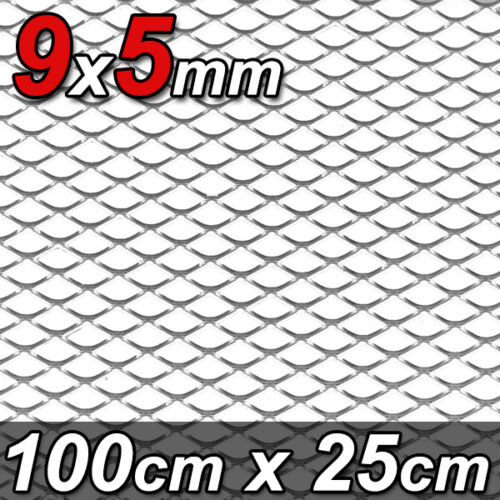 GRILLE ALU DIAMANTS PETITE MAILLE ARGENT ALFA A4 100x25