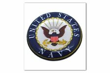 "1 Premium ""USN Navy"" Automotive Grade Glossy Domed Decal Sticker Emblem 7/8 inch"