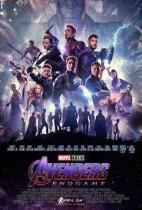 Marvel Avengers Endgame 2019 Original Intl Ver B Ds 2 Sided 27x40 Movie Poster Ebay