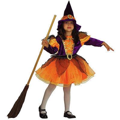 Metodico Vestito Costume Carnevale Sabrina Streghetta Strega 1 2 3 4 5 6 7 Anni