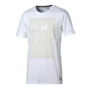 Puma Evo Long Tee Short Sleeve T Shirt Top Mens White 571628 02 Dd28