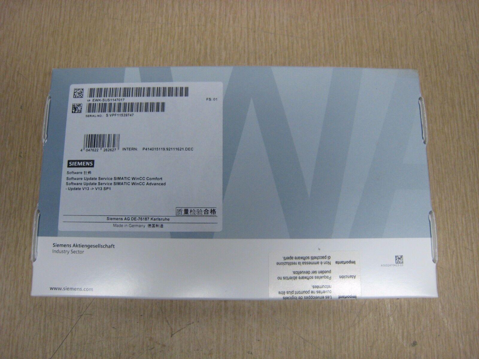 New Siemens EWK-SUS1147017 SIMATIC WinCC Comfort Advanced Upgrade Software