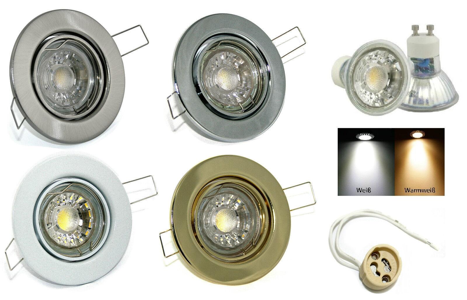 Led Power Reflektor Einbaurahmen Lia 230V 7Watt = 52Watt Fassung GU10 Dimmbar