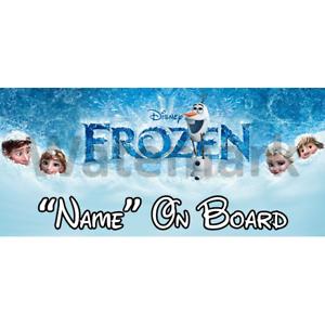 Disney Frozen Personalizado Bebé A Bordo Coche Firmar 5