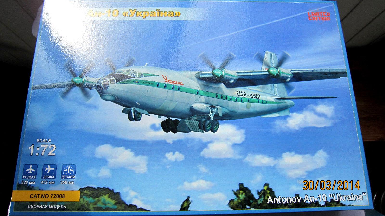 Antonov AN-10  Ukraine  aircraft model kit  1 72 ModelSvit