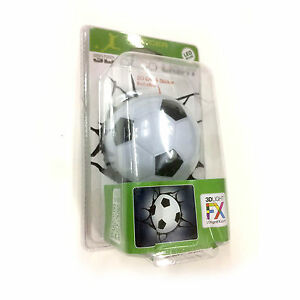 3D-FX-LED-Lumiere-Nuit-Mini-Soccer-Football-Mur-Decoration-Cadeau-Maison-Cosplay