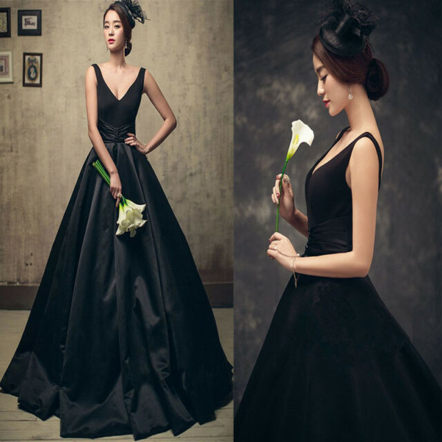 New Black Retro Evening Quinceanera Dresses Formal Prom Party Cocktail Ball Gown
