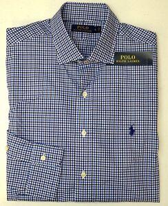 NWT $145 Polo Ralph Lauren Long Sleeve RL Twill Shirt Mens L Blue Plaid NEW