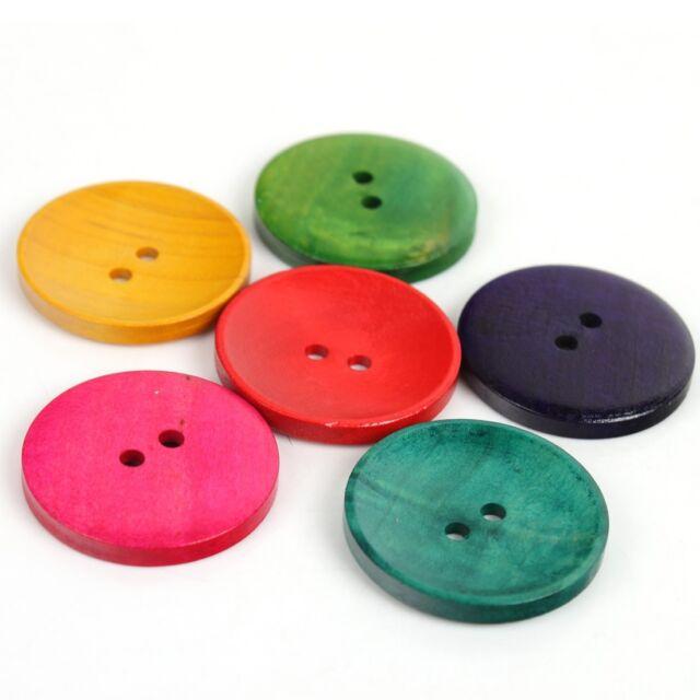 100x Wooden Buttons Mixed Assorted Random DIY Craft Scrapbook Sewing Cardmaking