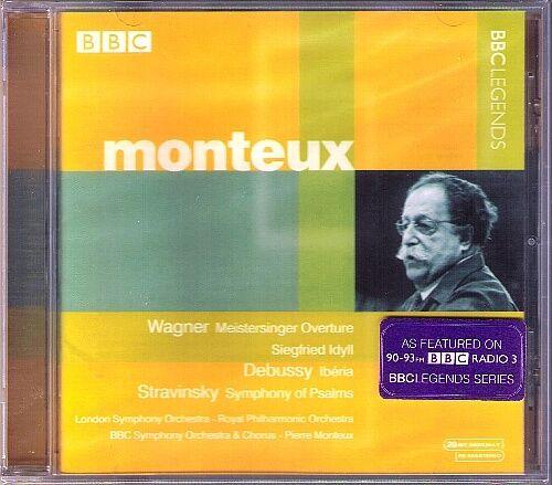 Pierre MONTEUX: DEBUSSY Iberia FALLA STRAVINSKY Psalms WAGNER Siefried-Idyll CD