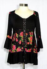 Dare to Wear CABARET Empire Waist Corset Top ROSE NOIR 2XL, 2X, 16-18