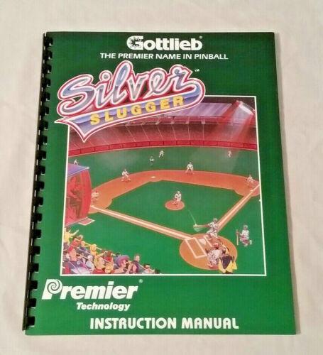 Gottlieb Premier Silver Slugger Pinball Machine Original Manual NOS FreeShip New