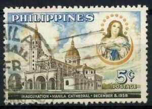 Filippine-1958-mi-622C-utilizzato-100-CATTEDRALE-DE-Maniglia