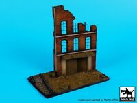 Black Dog 1:72 Ruined Factory Section W Railroad Track Diorama Base Resin D72028 on sale