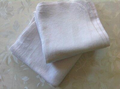 2 X Weiße, Kuschelige Babydecken 74 X 80 Cm Top! Bequemes GefüHl