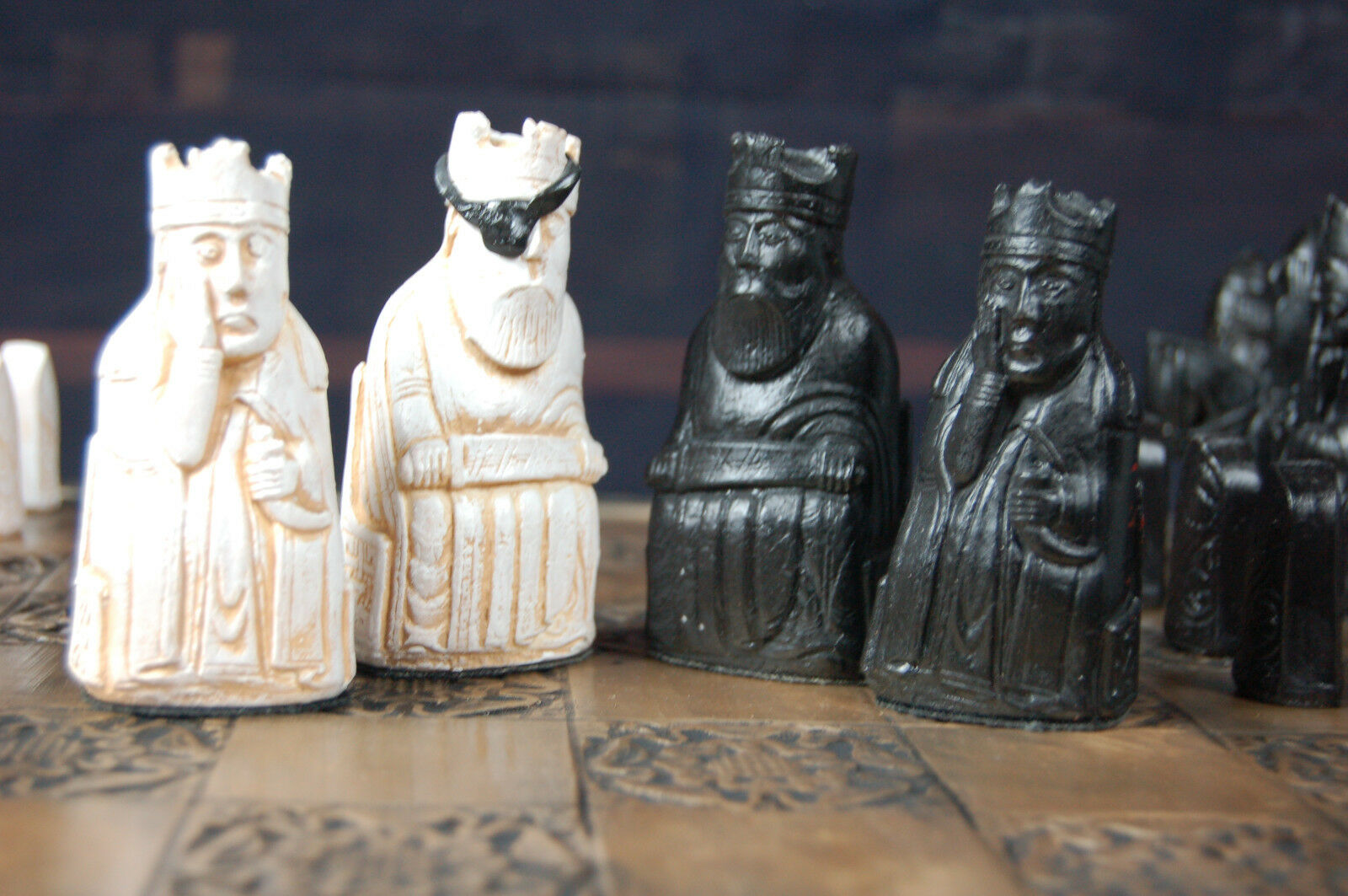 Isle of Lewis Chess Set  Walking Dead Governor Version (Pieces Only No Board)