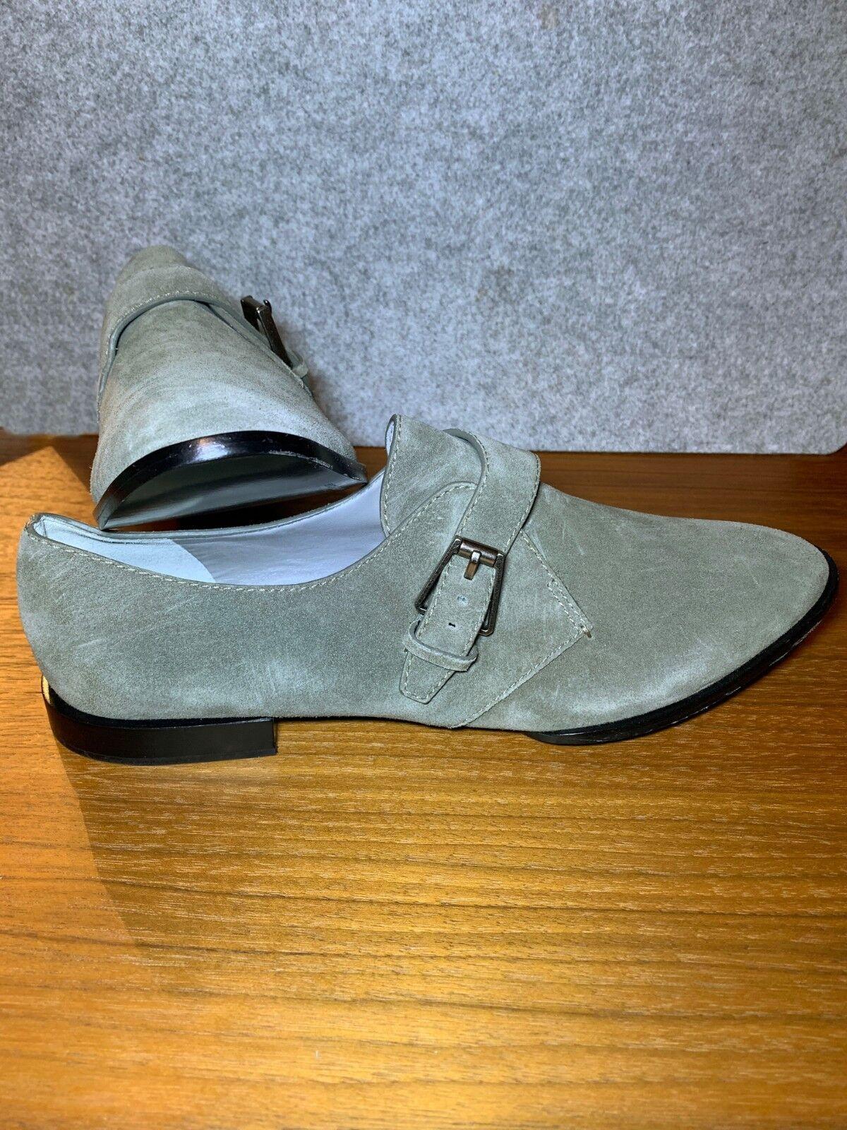 b9af072ed76 ALEXANDER WANG Monk Strap Oxfords shoes Suede Grey Size Size Size US 11 EU  41 063320 ...