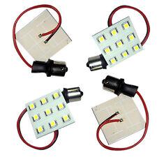 4x HQRP BA15s 9-LED Blanco Reemplazo para 93 1141 1156 1073 1093 1129 Bombillas