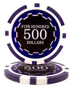 100 Blue $10 Las Vegas 14g Clay Poker Chips New Buy 2 Get 1 Free