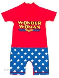 Girls Dc Wonder Woman Swim Costume Swimsuit Surf Suit 18mths