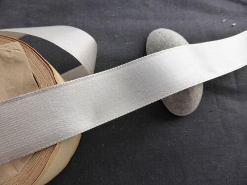 MERCERIE ANCIENNE GALON RUBAN MODISTE-GROS-GRAIN MARRON FONCE-larg 2,2cm//Au m