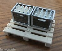 Borden's Milk Crates (2) With Pallet For Your Model Train Scenery