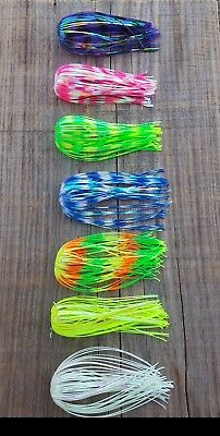 """5 Pk Hole in One Silicone Mylar Skirts 5/"""" Spinnerbait Buzzbait Jigs bass pike"""