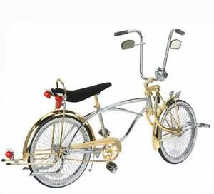 "New BICYCLE LOWRIDER Bent SISSYBAR GOLD TWISTED 90 degree for 20/"" bike"
