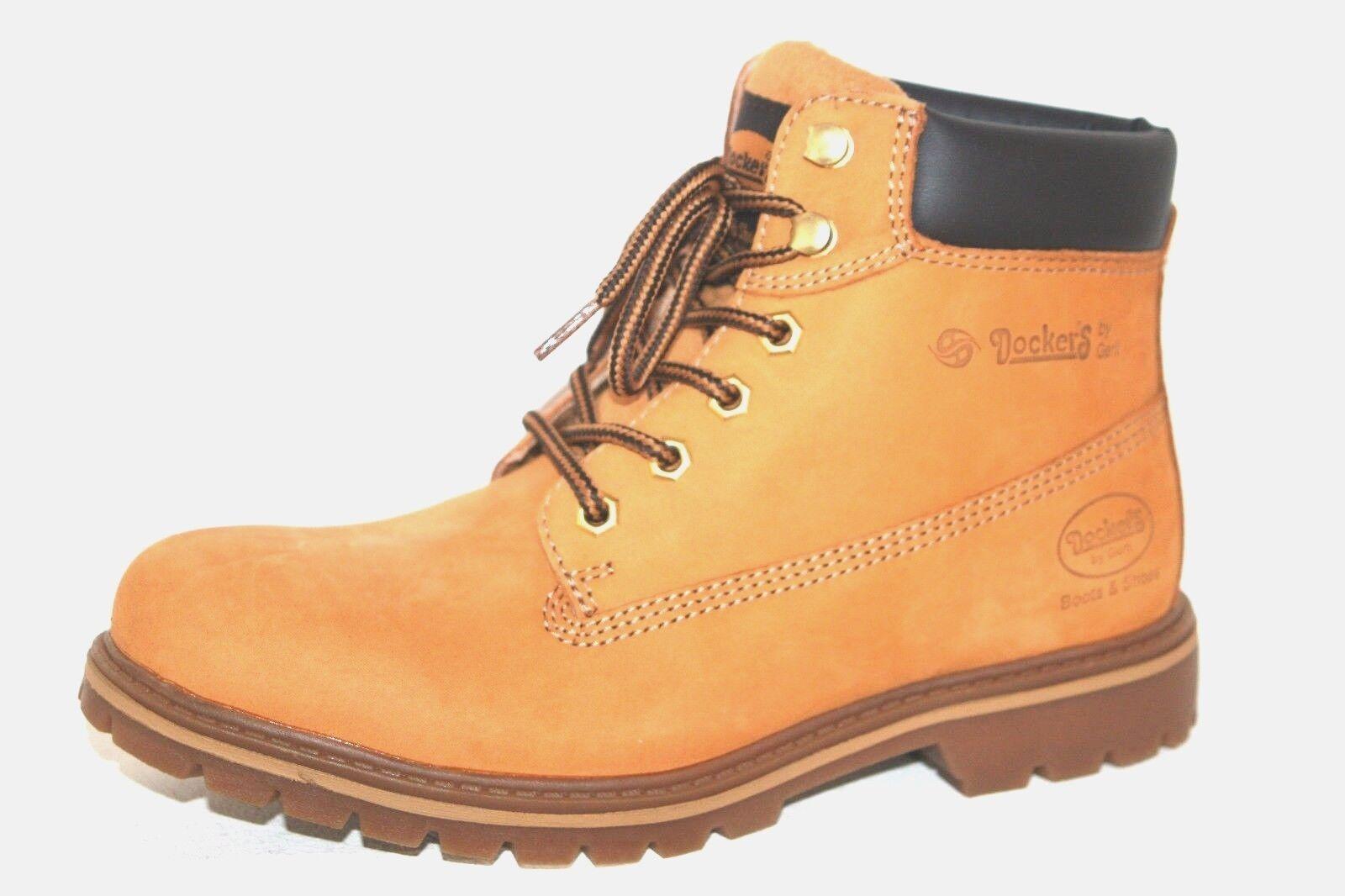 Dockers Boots Herren Stiefel Bergsteigerstiefel  Schuhe Leder beige gold