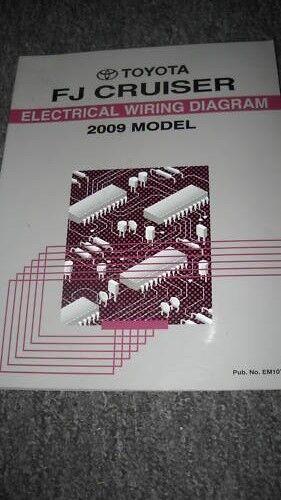 2009 Toyota Fj Cruiser Electrical Wiring Diagram Manual Ewd Evtm Factory Oem 09